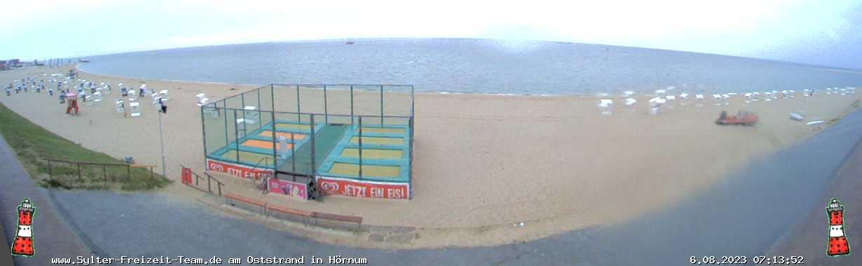 Webcam Hörnum Blick zum Hafen